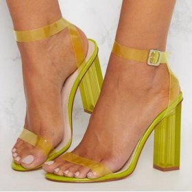 large candy-colored high-heeled sandals