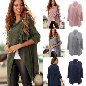 Knitted cardigan Long Sleeve Jacket