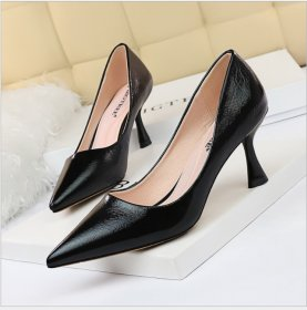 Simple wine cup, high heel, shallow top nightclub, metal-sensitive high heel shoes, women's shoes, single shoes