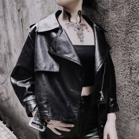 Girl Fashion Leather Clothes Street Tide Night Club