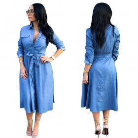 Flexible jeans casual loose dress