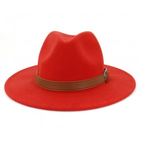 Wool hats for men and women couples straight-edged Jazz hats