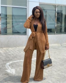 Thickened Plush jacket + trousers two-piece suit