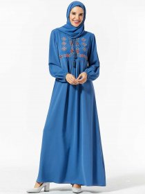 Comfortable Middle East large women's embroidered bowknot big swing Muslim long skirt (excluding headscarf)