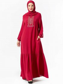Comfortable and fashionable large women's embroidered pocket with large Arabian skirt (excluding headscarf)