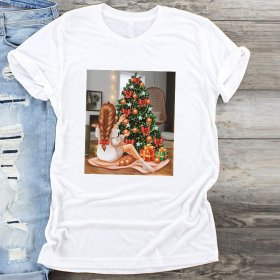 Large solid print T-shirt