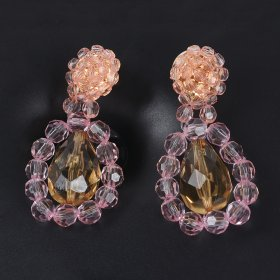 New fashion flower pendant earrings same resin quality party Earrings