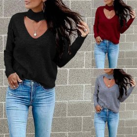 Casual fashion elastic sweater top
