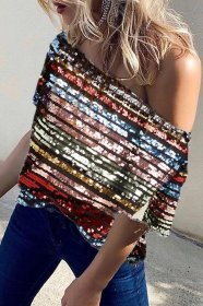 Colorful Sequin with lining top