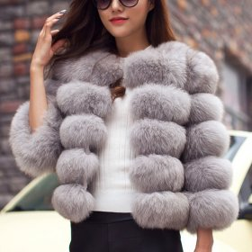 S-3XL Mink Coats Women 2019 Winter Top Fashion Pink FAUX Fur Coat Elegant Thick Warm Outerwear Fake Fur Jacket Chaquetas Mujer