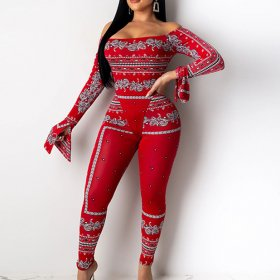 Print tight suit casual sexy
