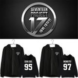 Kpop Merchandise Seventeen Zipper Hoodie Unisex Sweatershirt Sweater Wonwoo Coat Pullover