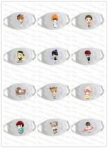 ALLKPOPER EXO Mouth Mask Kpop SM TOWN Chan Yeol Lu Han Cartoon Muffle