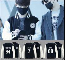 ALLKPOPER KPOP EXO Overdose Baseball Uniform Xiumin Baekhyun Chanyeol Varsity Jacket Coat