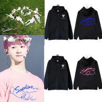 Kpop Merchandise Seventeen Zipper Hoodie 17 CART Coat Sweater Sweatershirt Pullover Wonwoo