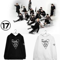 Kpop Merchandise Seventeen Cap Hoodie Sweater 17 CARAT Unisex Coat Outwear Sweatershirt