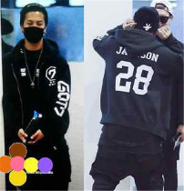 ALLKPOPER KPOP GOT7 Jackson ZIpper Coat Hoodie Sweater Pullover Sweatershirt Fleece Coat Jacket