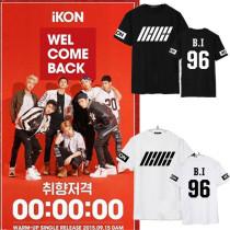 ALLKPOPER KPOP IKON Welcome Back My Type T-shirt JINHWAN YUN HYEONG Tee Bobby B.I Tshirt