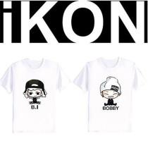 ALLKPOPER KPOP Ikon Cartoon T-shirt Bobby B.I COMIC Donghyuk Jinhwan Junhoe Tee Tshirt