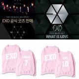 ALLKPOPER KPOP EXO Sweater Planet #3 EXO'rDium Pink Unisex New Hoodie Chanyeol Kris Luhan