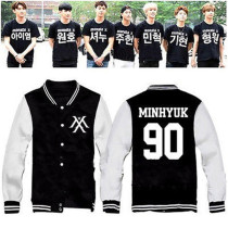 ALLKPOPER Kpop MONSTA X Baseball Uniform The Clan 2.5 Part.1 Lost Outwear Varsity Jacket