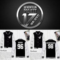 KPOP SEVENTEEN Baseball Uniform Unisex Shining Diamond Coat Varsity Jacket Outwear