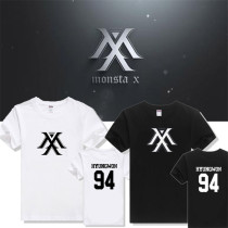 ALLKPOPER Kpop MONSTA X T-shirt RUSH I.M Unisex Tshirt Tee Cotton SHOWNU JOOHEON HYUNGWON