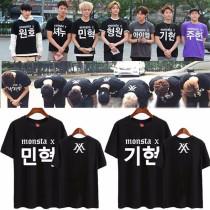 ALLKPOPER Kpop Monsta x Unisex T-shirt Tee Tops Tshirt Shownu I.M Joo Heon Wonho Jooheon