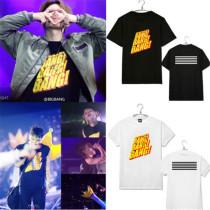 Kpop Merchandise Bigbang G-Dragon T-shirt 10th Anniversary Concert Tshirt Unisex Tee Cotton