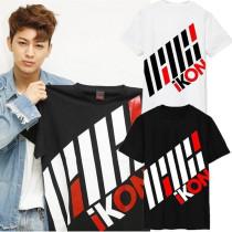 KPOP IKON iKONCERT T-shirt Unisex BI BOBBY Tshirt Short Sleeve Tee Tops Merchandise