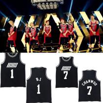 IKON Basketball Singlet Unisex Tee BOBBY JINHWAN Sleeveless Shirt Kpop Merchandise T-Shirt