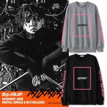 Kpop Merchandise IKON Sweater Hoodie  BOBBY SOLO HOLUP Unisex Sweatershirt Pullover Cotton