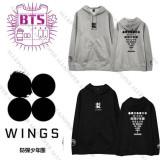 ALLKPOPER Kpop BTS WINGS Cap Hoodie Sweater Unisex Bangtan Boys J-Hope Sweatershirt Jimin