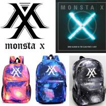 ALLKPOPER KPOP Monsta X Backpack THE CLAN Tarry Sky Satchel New School Bag Showun WONHO