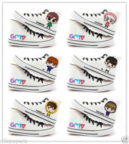 ALLKPOPER Kpop Got7 Hand Painting Shoes Unisex DIY Cartoon Ankle Boots Sport Shoes JB JR