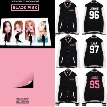 ALLKPOPER Kpop Blackpink Baseball Uniform Coat SQUARE ONE Varsity Jacket Outwear ROSE