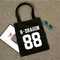 ALLKPOPER KPOP Bigbang Handbag G-Dragon GD Bookbag Shoulderbag Bag T.O.P TOP Shopping Bag