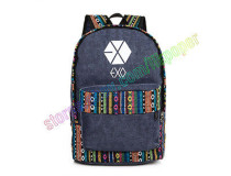 ALLKPOPER KPOP Kpop EXO Backpack Sehun Baekhyun Overdose Cavas Schoolbag Chanyeol XOXO National Bag Satchel
