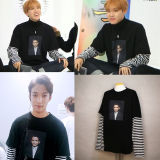 ALLKPOPER Kpop BTS J-HOPE Fake Two Piece Sweatershirt Seventeen Pullover Sweater Hoodie