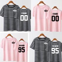 ALLKPOPER Kpop SF9 Feeling Sensation Stripe T-shirt Unisex DAWON HWIYOUNG Tshirt Cotton