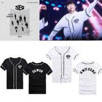 ALLKPOPER Kpop SF9 Baseball Jersey Uniform T-shirt Fanfare Tshirt Feeling Sensation Tee