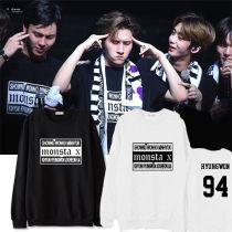 ALLKPOPER KPOP Monsta x Japan Concert Sweater HYUNGWON Hoodie JOOHEON Pullover Long Sleeve
