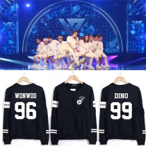 ALLKPOPER Kpop Seventeen17 Sweater 1st Mini Album 17 CARAT Unisex Hoodie WONWOO VERNON
