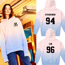 ALLKPOPER KPOP Monsta X Gradient Cap Hoodie Sweater Unisex Shownu WONHO Sweatershirt Coat