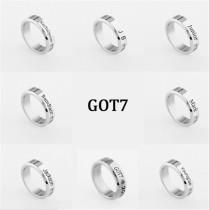 ALLKPOPER KPOP GOT7 Ring Fashion JB Jackson Mark Bambam Youngjae JR Stainless Finger Ring