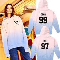 ALLKPOPER KPOP Seventeen 17 Cap Hoodie Sweater Gradient Sweatershirt Unisex HOSHI Coat