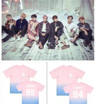 ALLKPOPER KPOP BTS Gradient T-shirt Bangtan Boys Wings Tshirt Jung Kook Cotton Jimin Tee