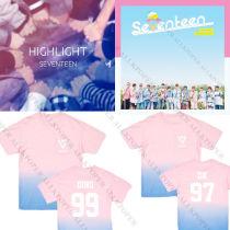 ALLKPOPER KPOP Seventeen 17 Gradient T-shirt Unisex MINGYU Tshirt DINO Short Sleeve Tee