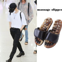 ALLKPOPER Kpop BTS Jungkook Slipper Airport Fashion JIN Massage Slipper Stone Reflexology