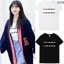ALLKPOPER Kpop Twice Ji Hyo T-shirt Street Shooting Tshirt Unisex 2017 Letter Summer Tee